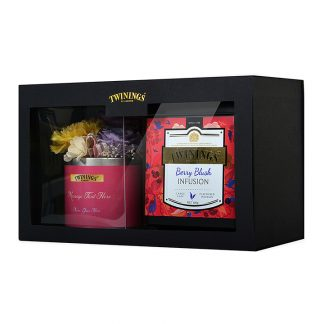 Twinings Platinum & Preserved Flowers Gift Set – Berry Blush Infusion