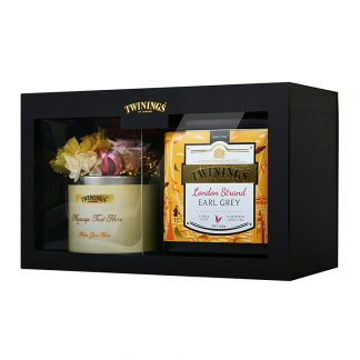 Twinings Platinum & Preserved Flowers Gift Set -London Strand Earl Grey